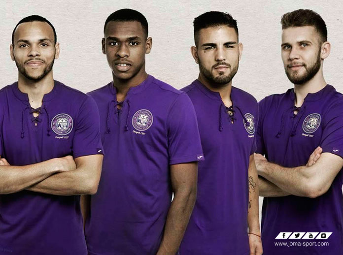 Joma presents Toulouse's 80th anniversary shirt