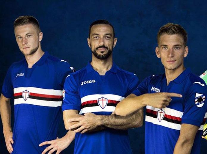 Presentamos la camiseta oficial de la UC Sampdoria para la temporada 2017/18