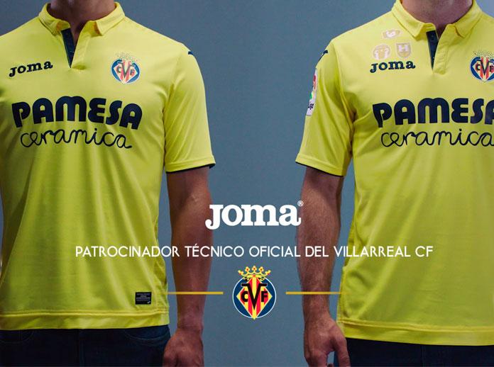 Joma, como patrocinador técnico del Villarreal CF, presenta la camiseta oficial para la temporada 2017/2018