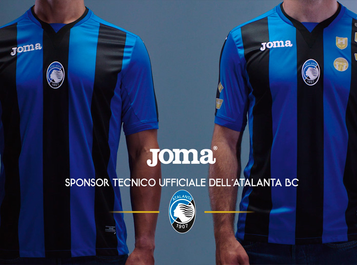 completo calcio Atalanta personalizzata
