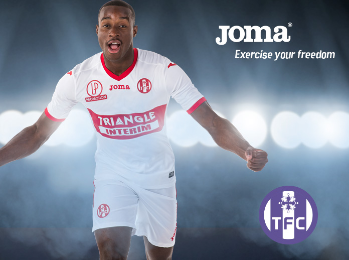 Joma, as technical sponsor of Toulouse FC, presents the away shirt for the 2017/2018 season