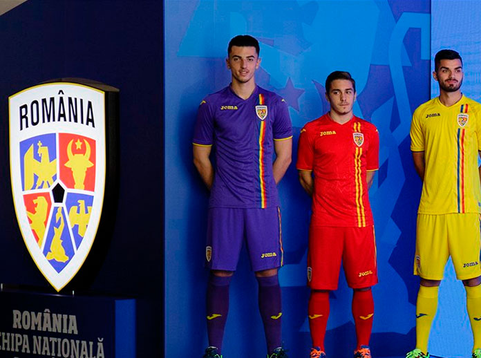 We present the new kit for the Romanian National Team