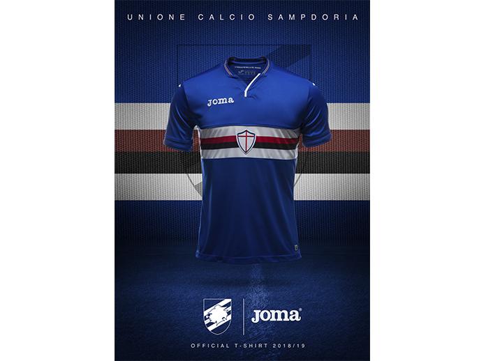 La nuova maglia della Sampdoria per la stagione 2018/2019